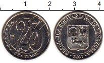 Изображение Монеты Венесуэла 25 сентим 2007 Медно-никель UNC- Герб Венесуэлы