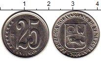 Изображение Монеты Венесуэла 25 сентим 2009 Медно-никель UNC-
