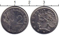 Изображение Монеты Бразилия 2 сентаво 1975 Сталь XF