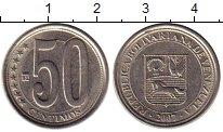 Изображение Монеты Южная Америка Венесуэла 50 сентим 2007 Медно-никель UNC-