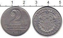 Изображение Монеты Южная Америка Бразилия 2 крузейро 1961 Алюминий XF