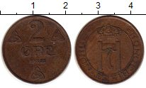 Изображение Монеты Норвегия 2 эре 1922 Бронза XF