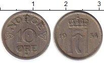 Изображение Монеты Норвегия 10 эре 1954 Медно-никель XF