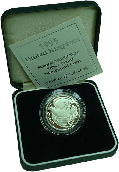 Изображение Подарочные монеты Великобритания 2 фунта 1995 Серебро Proof