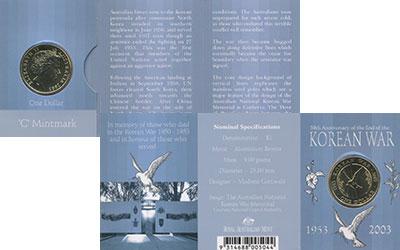 Изображение Подарочные монеты Австралия 1 доллар 2003 Латунь UNC