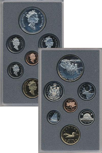 Изображение Подарочные монеты Северная Америка Канада Выпуск монет 1992 в качестве Пруф 1992  Proof
