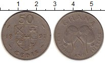 Изображение Монеты Африка Гана 50 седи 1997 Медно-никель XF-