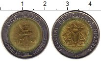 Изображение Монеты Нигерия 1 найра 2006 Биметалл VF