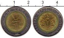 Изображение Монеты Африка Нигерия 1 найра 2006 Биметалл VF