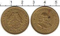 Изображение Монеты ЮАР 1/2 цента 1964 Латунь XF-