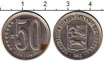 Изображение Монеты Южная Америка Венесуэла 50 сентим 2012 Медно-никель XF