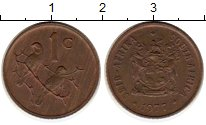 Изображение Монеты ЮАР 1 цент 1977 Бронза XF