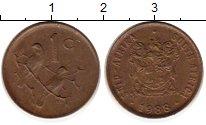 Изображение Монеты Африка ЮАР 1 цент 1988 Бронза XF