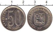 Изображение Монеты Венесуэла 50 сентим 2007 Медно-никель VF