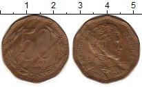 Изображение Монеты Чили 50 песо 1995 Латунь XF