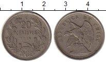 Изображение Монеты Южная Америка Чили 20 сентаво 1921 Медно-никель VF