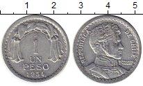 Изображение Монеты Чили 1 песо 1954 Алюминий XF