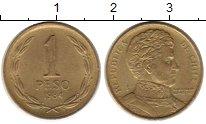 Изображение Монеты Южная Америка Чили 1 песо 1984 Латунь XF