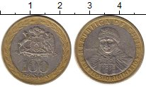 Изображение Монеты Южная Америка Чили 100 песо 2006 Биметалл XF