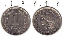 Изображение Монеты Южная Америка Аргентина 1 песо 1958 Медно-никель XF