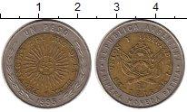 Изображение Монеты Южная Америка Аргентина 1 песо 1995 Биметалл XF