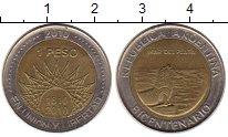 Изображение Монеты Аргентина 1 песо 2010 Биметалл XF