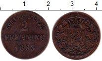 Изображение Монеты Бавария 2 пфеннига 1863 Медь XF