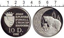 Изображение Монеты Андорра 10 динерс 1992 Серебро Proof