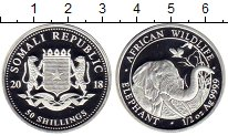 Изображение Монеты Африка Сомали 50 шиллингов 2018 Серебро Proof