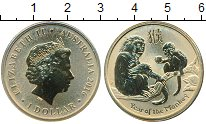 Изображение Мелочь Австралия 1 доллар 2016 Латунь UNC