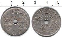 Изображение Монеты Европа Испания 25 сентим 1937 Медно-никель XF