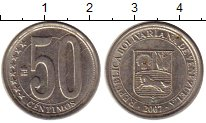 Изображение Монеты Южная Америка Венесуэла 50 сентим 2007 Медно-никель XF