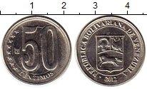 Изображение Монеты Венесуэла 50 сентим 2012 Медно-никель XF Герб Венесуэлы