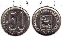 Изображение Монеты Южная Америка Венесуэла 50 сентим 2012 Медно-никель UNC-