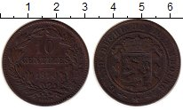 Изображение Монеты Европа Люксембург 10 сантим 1870 Медь XF-