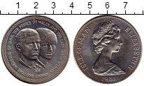 Изображение Монеты Остров Мэн 1 крона 1981 Медно-никель XF Свадьба принца Уэльс