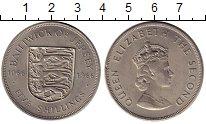 Изображение Монеты Великобритания Остров Джерси 5 шиллингов 1966 Медно-никель XF