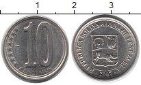 Изображение Монеты Венесуэла 10 сентим 2007 Алюминий XF