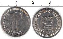 Изображение Монеты Венесуэла 10 сентим 2007 Латунь XF