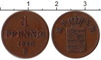 Изображение Монеты Германия Саксе-Мейнинген 1 пфенниг 1859 Медь XF