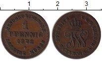Изображение Монеты Германия Мекленбург-Стрелитц 1 пфенниг 1872 Медь XF