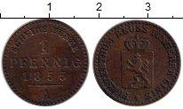 Изображение Монеты Германия Рейсс 1 пфенниг 1855 Медь XF