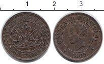 Изображение Монеты Северная Америка Гаити 5 сентим 1863 Медь VF
