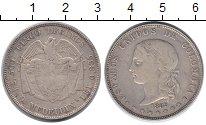 Изображение Монеты Колумбия 5 десим 1885 Серебро VF Номинал в 5 децим вс