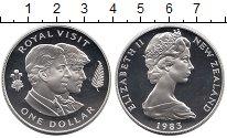 Изображение Монеты Новая Зеландия 1 доллар 1983 Серебро Proof