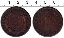Изображение Монеты Гаити 6 сантимов 1846 Медь VF