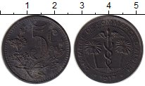 Изображение Монеты Африка Алжир 5 сантим 1917 Цинк XF