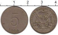 Изображение Монеты Северная Америка Гаити 5 сентим 1904 Медно-никель VF