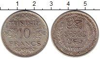 Изображение Монеты Африка Тунис 10 франков 1934 Серебро XF-