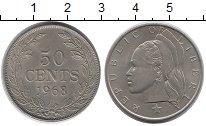 Изображение Мелочь Либерия 50 центов 1968 Медно-никель XF